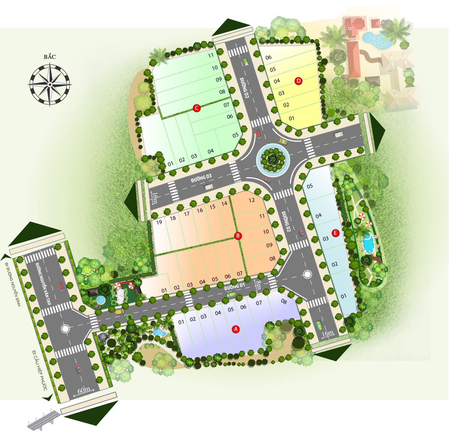 Bảng đồ phân lô dự án long savana